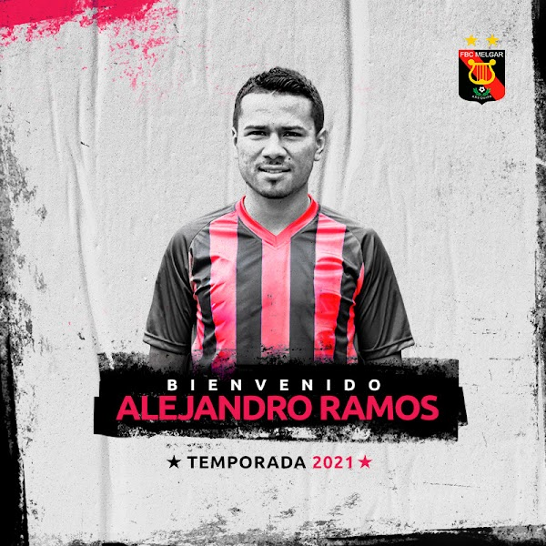 Oficial: Melgar, firma Alejandro Ramos