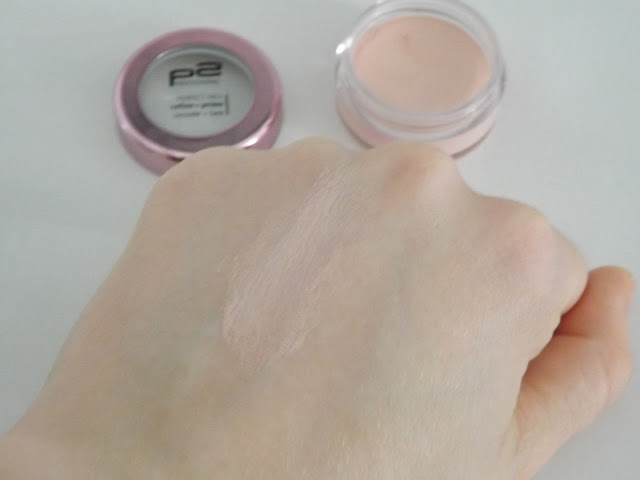 p2 perfect face refine + prime concealer + base Swatch