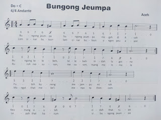 lirik lagu Bungong Jeumpa dan notnya