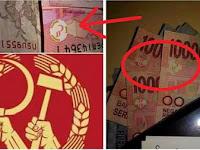 Heboh Uang Seratus Ribu Rupiah dengan Logo Palu Arit, Benarkah?