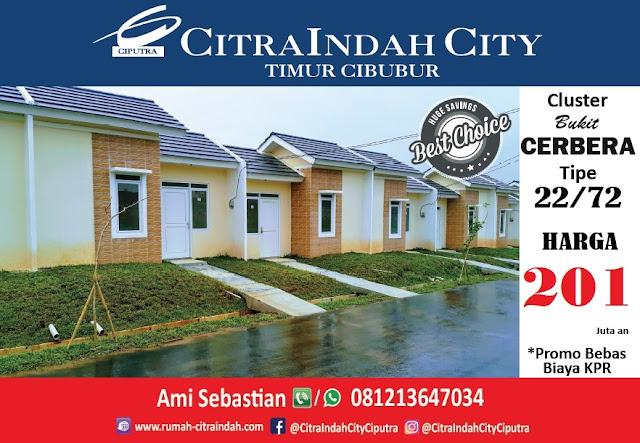 Bukit CERBERA Citra Indah City dipasarkan - Tipe 22/72