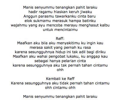 Lirik Lagu Al Ghazali Pelarian Cinta