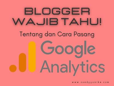 Pasang Google Analytics