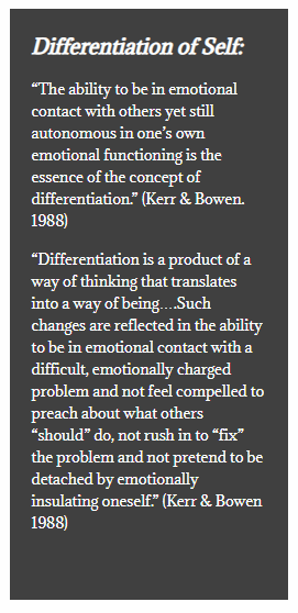 What is Bowen s idea of  differentiation?