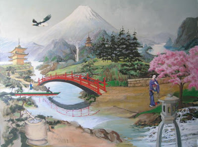 Best Japanese Wall 3D Murals Art Design Garden Mural   Japanese Wall Murals  Design Interior Decorating With Japanese Wall Murals Design Best Japanese  Wall ...