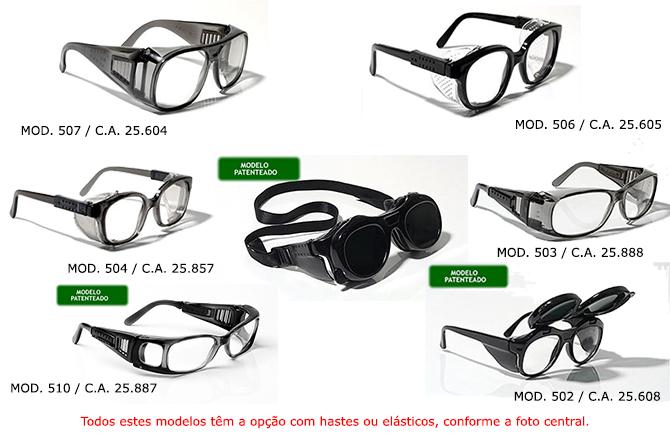 Estes têm como finalidade proteger os olhos contra poeiras em suspensão,  respingos, fagulhas, soldas ou realização de atividades que exijam proteção  contra ... 7f6445a8fa