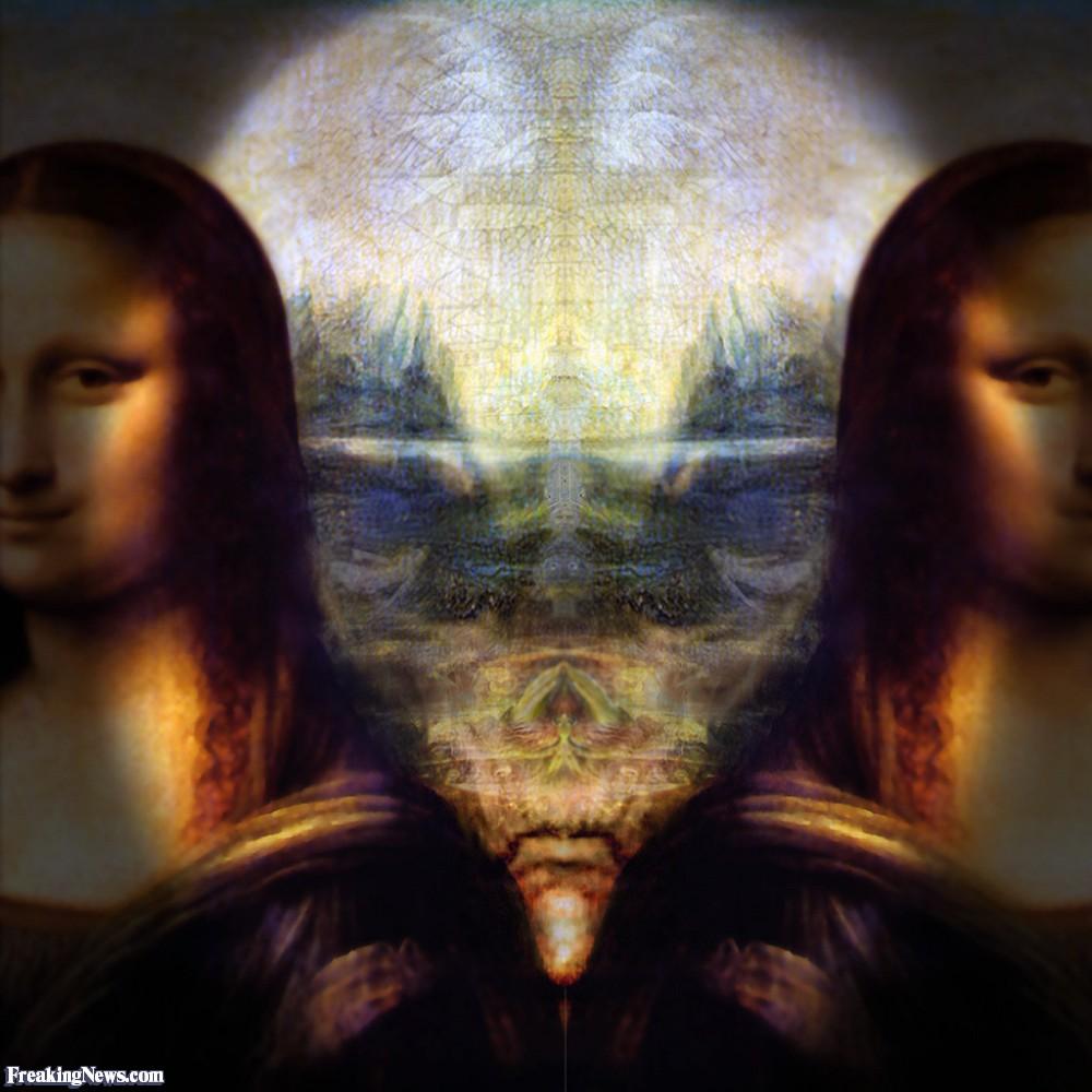 Ternyata Lukisan Monalisa Menyembunyikan Sosok Alien Lucu Aneh