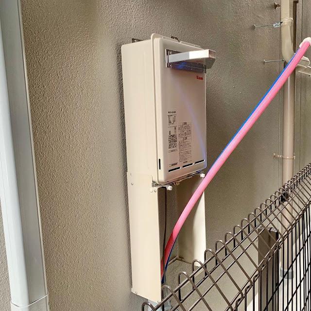 都市ガス:改修工事物件に伴いガス業務用給湯器を設置しました。