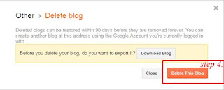 How to delete a blogger blog in just 1 minute