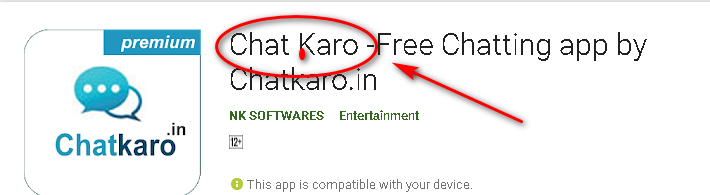 Download ChatKaro App from playstore