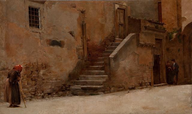 Belmiro de Almeida - A Street in Italy - 1889