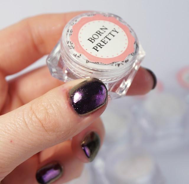 Nurbesten - Chameleon Mirror Nails Nr. 682 Born Pretty Store, Nail Art, Design, Purple, Glitzer Puder Powder