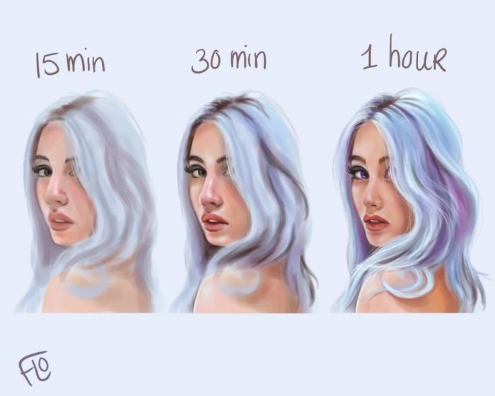 Artist from The Netherlands Floortje show us how much take time a perfect illustration