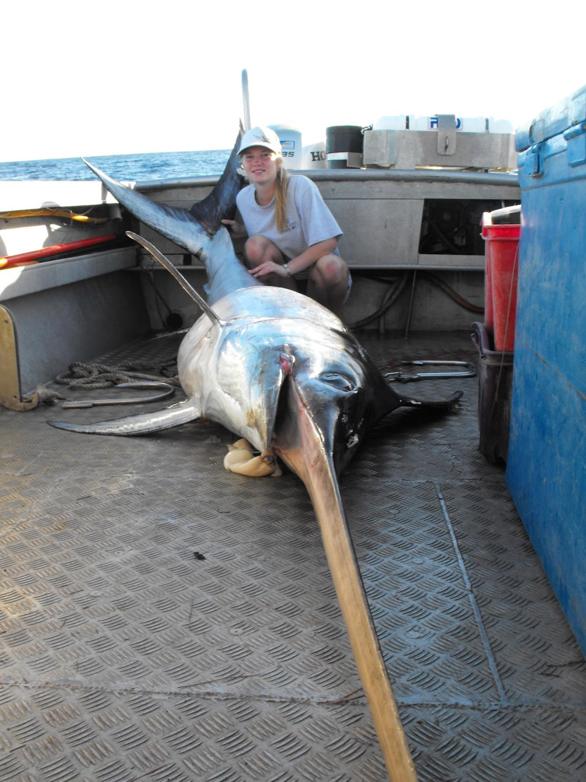 Man Catching Swordfish