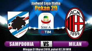 مباشر مشاهدة مباراة ميلان وسامبدوريا بث مباشر 30-3-2019 الدوري الايطالي يوتيوب بدون تقطيع