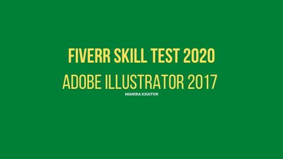 fiverr illustrator skill test answer, ManiraKhatun, Manira khatun ,fiverr test answer,fiverr skill test,fiverr illustrator
