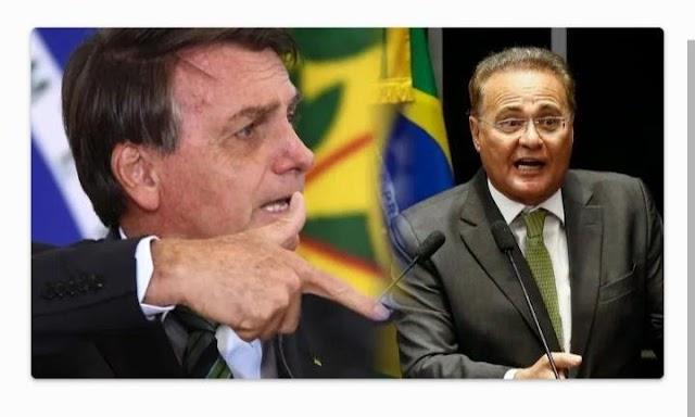 Bolsonaro chama Renan Calheiros de especialista em desviar recursos