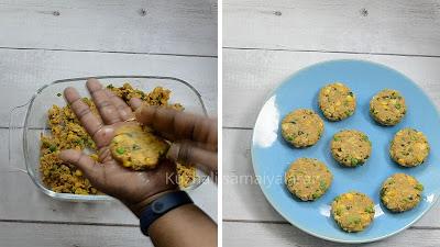 Raw banana  tikki, plantain tikki, Kacche Kele Ki Tikki, Raw Banana cutlets- starter/ snack recipe