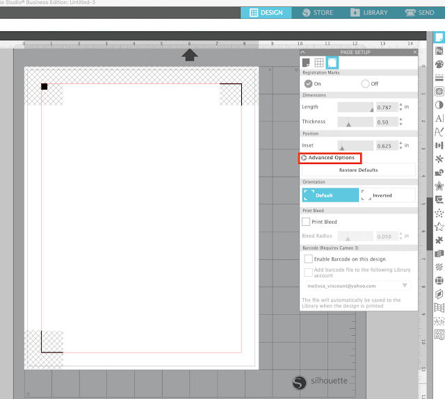 print and cut, silhouette studio v4, registration marks, silhouette cameo print and cut, Advanced Silhouette Studio Tutorial