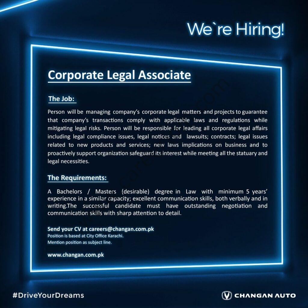 careers@changan.com.pk - Master Changan Motors Ltd Jobs 2021 in Pakistan