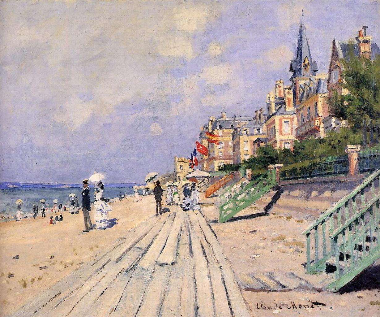 On the Boardwalk at Trouville (1870) by Claude Monet - UK culture blog