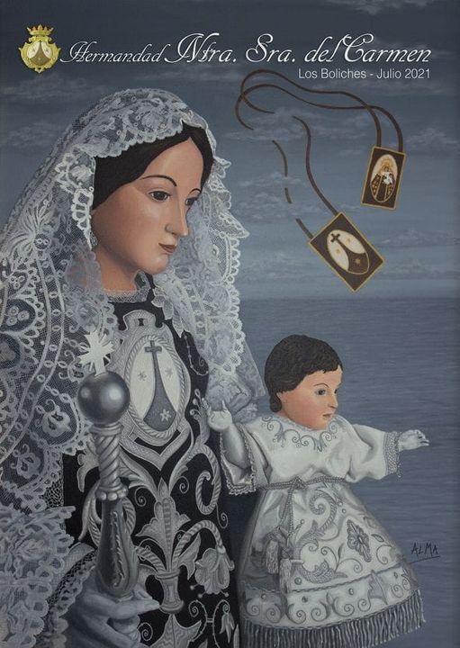 Cartel de Nuestra Señora del Carmen 2021 de Los Boliches (Fuengirola)