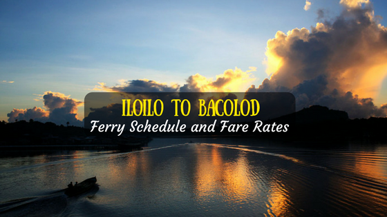 Bacolod from Iloilo ferry schedule