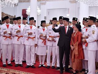 Berikut Nama Nama Paskibraka Nasional Yang di Kukuhkan Presiden Jokowi