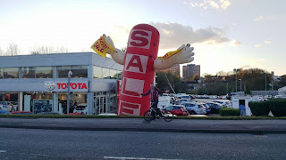 Inflatable advertising at Toyota in Stockport