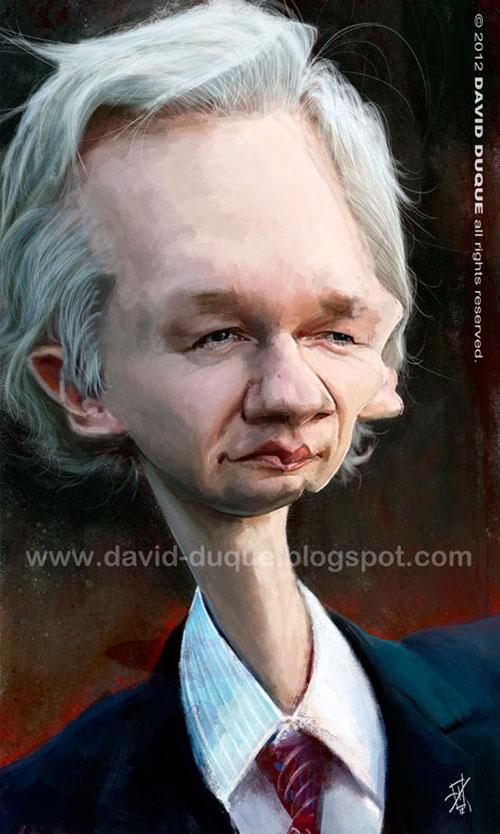 Julian Assange por David Duque