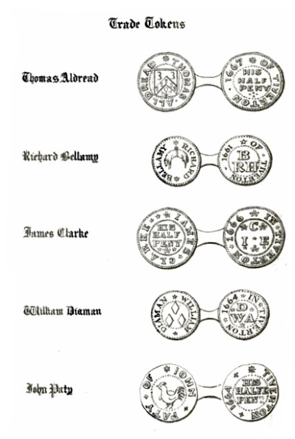 17th Century Tiverton Trade Tokens