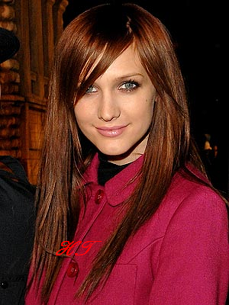 dark auburn hair color brown eyes
