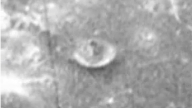 Satellite or chimney structure on the Moon.