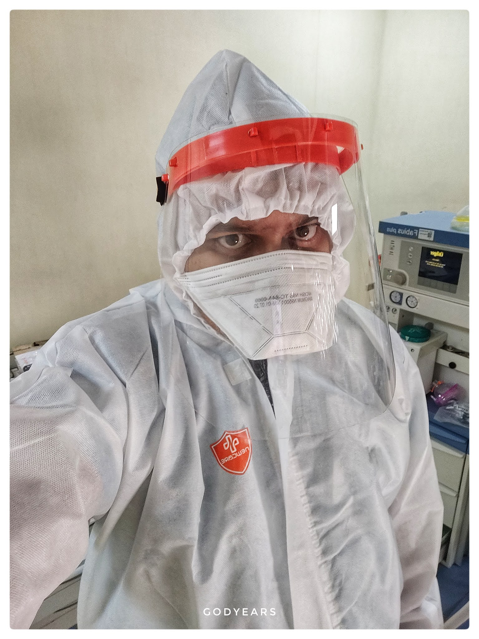Indian Doctor in a PPE suit