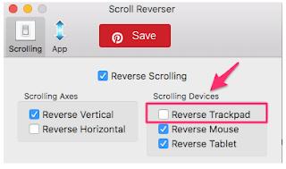 Cara Menetapkan Arah Scroll (Arah Gulir) Yang Berbeda Untuk Mouse dan Trackpad Pada Mac