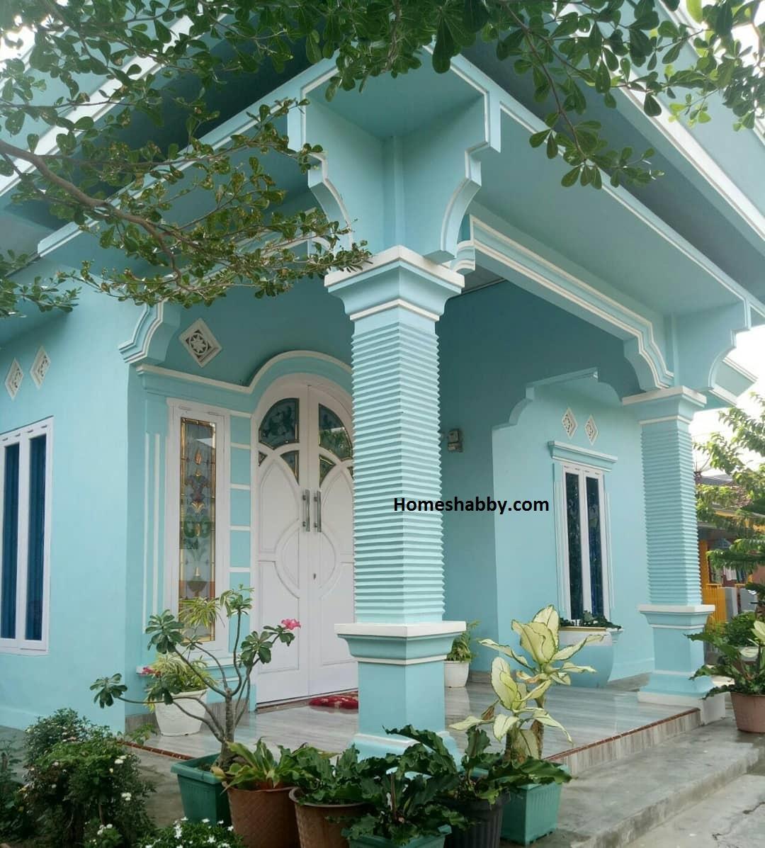 Bisa Di Contoh Kombinasi Warna Cat Rumah Nuansa Biru Yang Menenangkan Homeshabby Com Design Home Plans Home Decorating And Interior Design Kombinasi cat warna putih