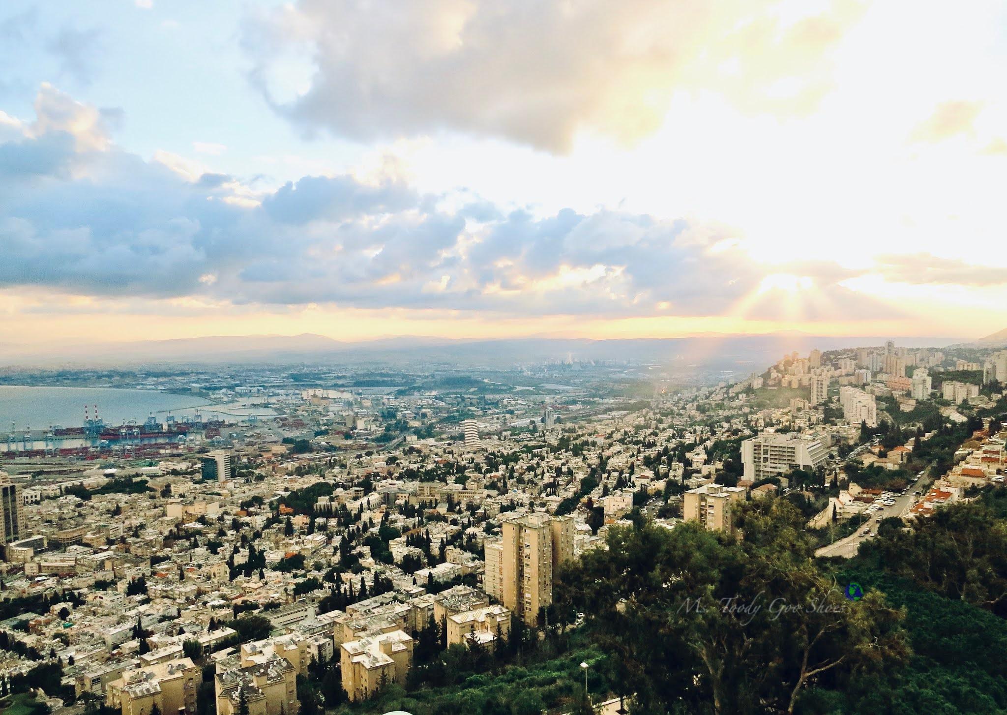 Daybreak in Haifa, Israel-  Ms. Toody Goo Shoes