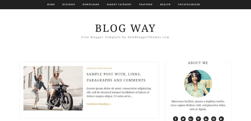 Blog Way Free Blogger Template