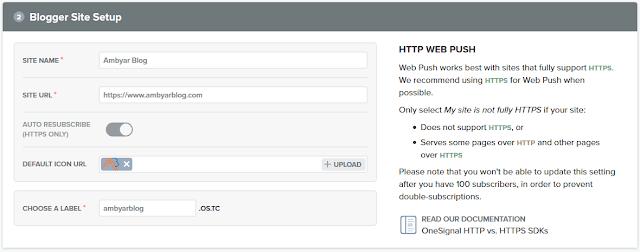 Tahap pembuatan push notifikasi dengan OneSignal