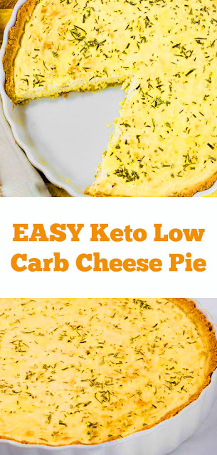 Keto Low Carb Cheese Pie Recipe - Three Cheeses - Gluten Free Crust! #ketopie #keto #lowcarb #cheesepie #pie #ketodinner #easydinner #lunch #ketolunch #glutenfree #dinner #maindish