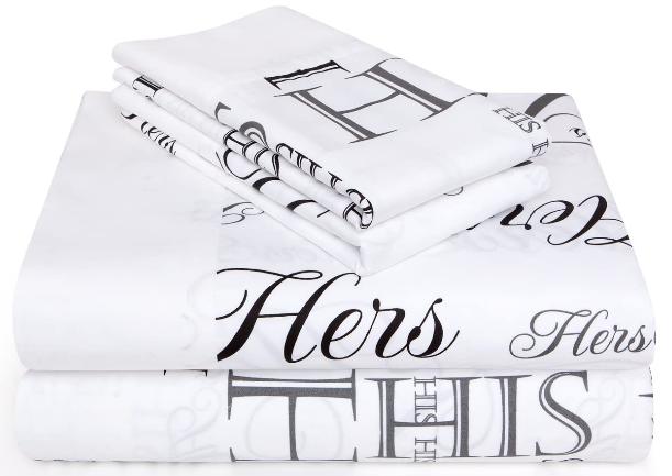 cotton sateen printed sheet set