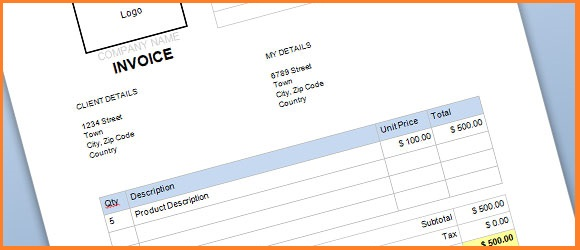 free commercial invoice template 2016 | resume business template, Invoice templates