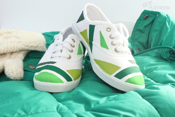St. Patrick's Day shoes DIY
