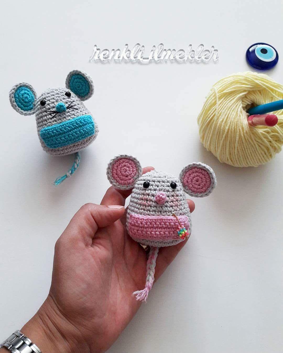 Amigurumi Keychain Mouse Free Pattern | Crochet keychain pattern ... | 1350x1080