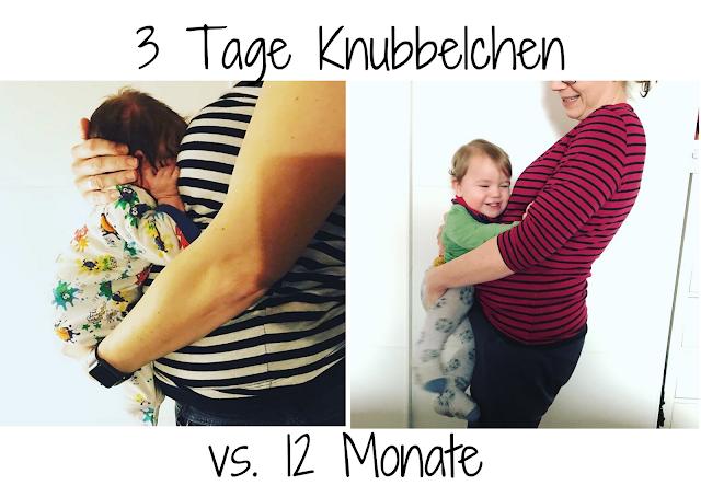 Erster Geburtstag - 3 Tage alt vs. 12 Monate alt
