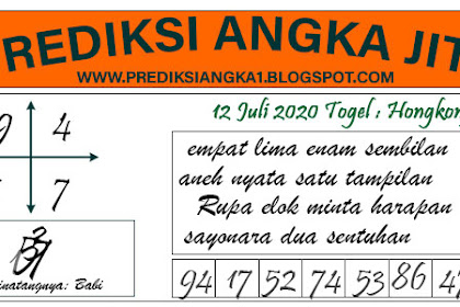 Prediksi Akurat Togel Hongkong Minggu 12 Juli 2020