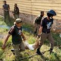 Pol PP Tangkap Hewan Ternak Yang Berkeliaran di Kota Tebo