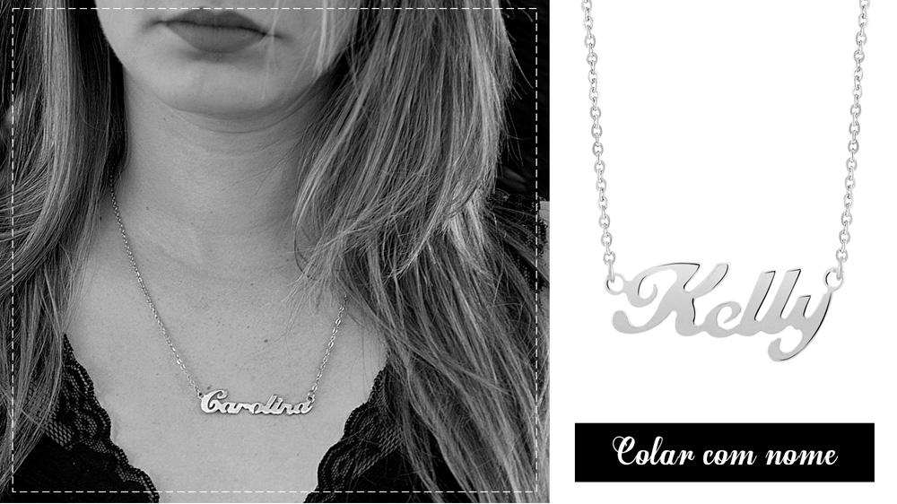 O Colar com nome é uma joia em aço que se tornou atemporal e clássica!
