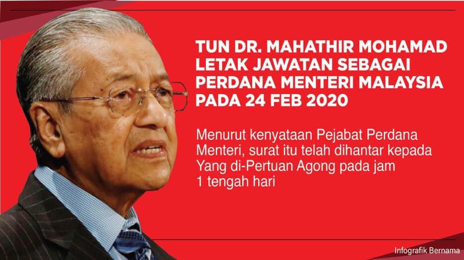 Tun M Letak Jawatan Sebagai Perdana Menteri Ke 7