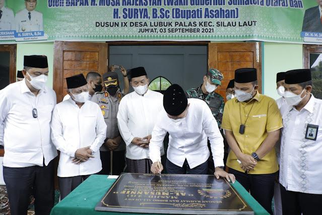 Wagub Sumut Resmikan Masjid Al-Musannif di Kecamatan Silau Laut